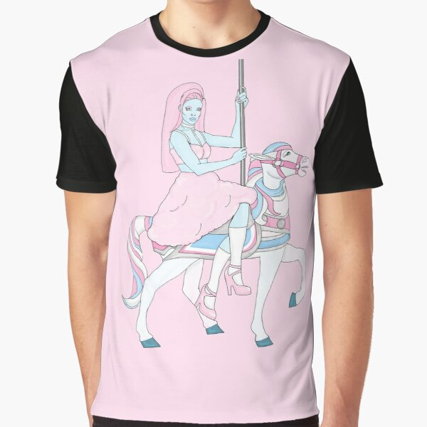 Cotton Candy Carousel Graphic T-Shirt