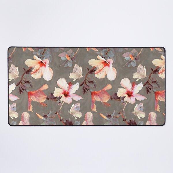Coral Hibiscus Desk Mat