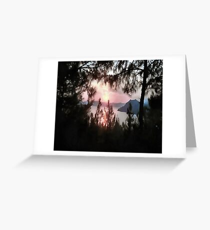 Solemn Sunset Greeting Card