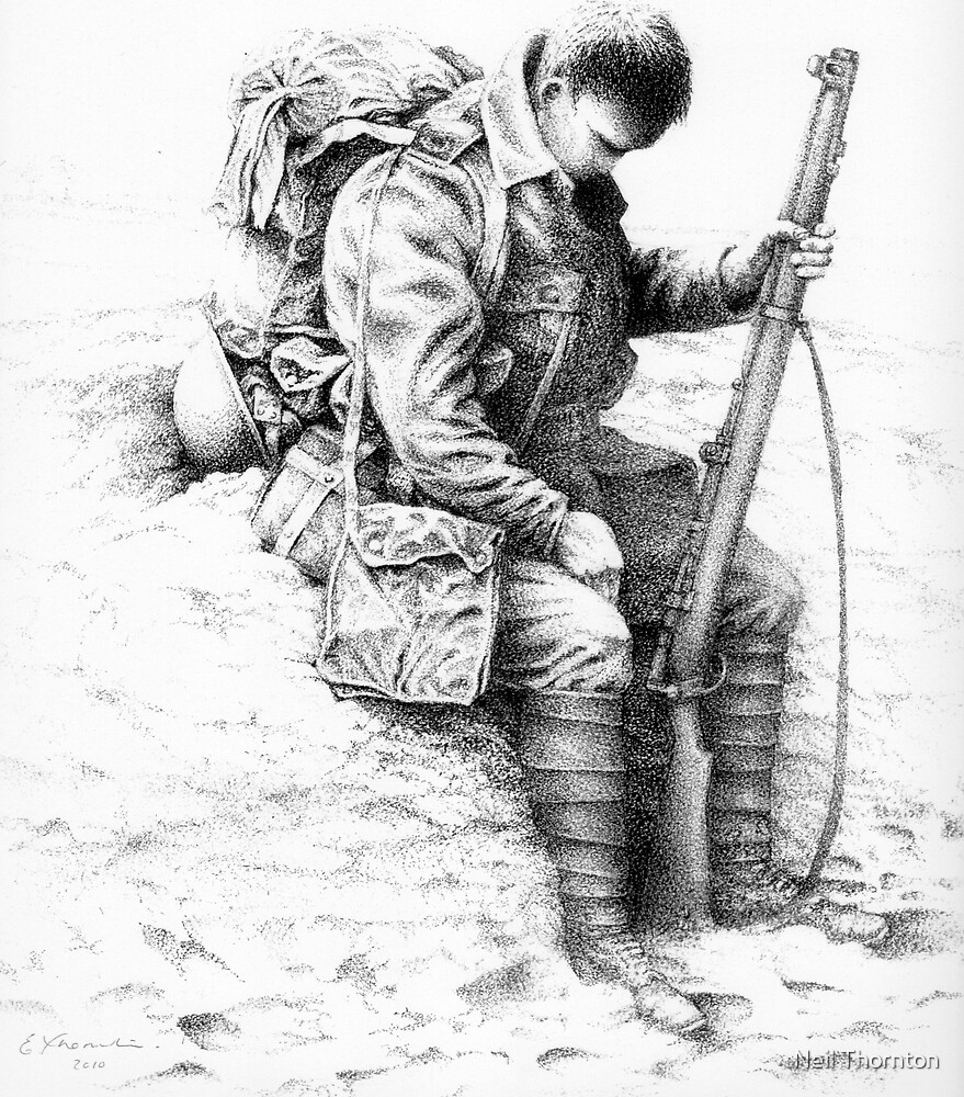 """""""WW1 British Soldier 'Weary Tommy'"""" By Neil Thornton"""
