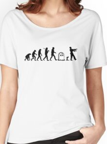 Human to Zombie Evolution Women's Relaxed Fit T-Shirt