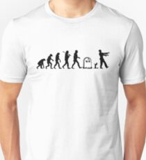 Human to Zombie Evolution Unisex T-Shirt
