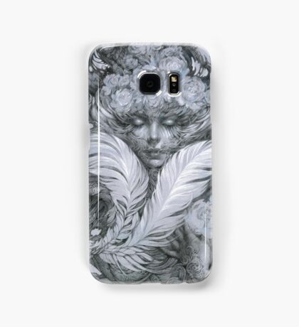 Fairy lady with white feathers and roses. Samsung Galaxy Case/Skin