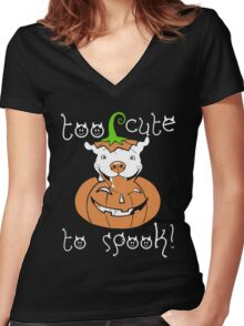 Love Pitbull - Too cute to spook Tshirt Women's Fitted V-Neck T-Shirt