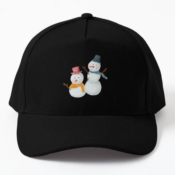 Snow Man Baseball Cap