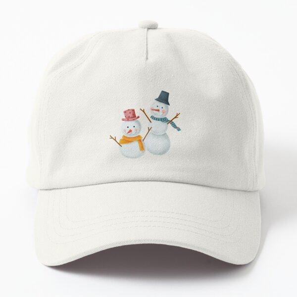 Snow Man Dad Hat