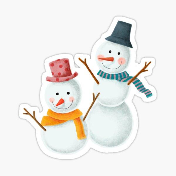 Snow Man Sticker