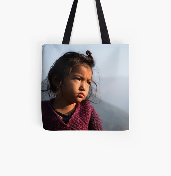 Little girl All Over Print Tote Bag