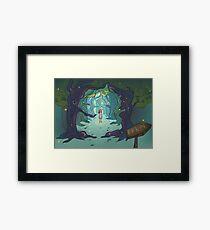 Firefly forest Framed Print