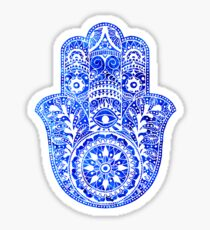 Blues Hamsa Hand Sticker