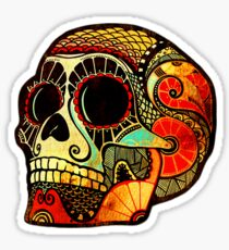 Grunge Skull (Sticker-mirrored) Sticker