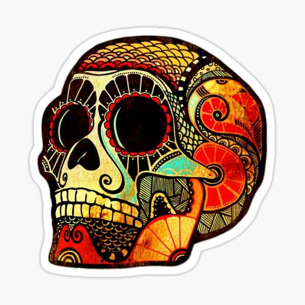 Grunge Skull (Sticker-mirrored) Sticker