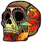 Grunge Skull (Sticker-mirrored) von KerstinSchoene