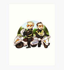 Motor cops Art Print