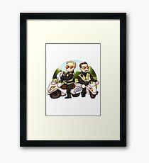 Motor cops Framed Print