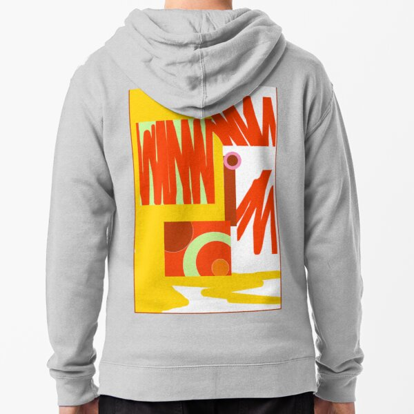 Rust Gold 3 Abstract Zipped Hoodie