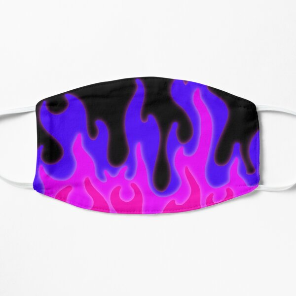 Flames in Pink and Purple! Flat Mask