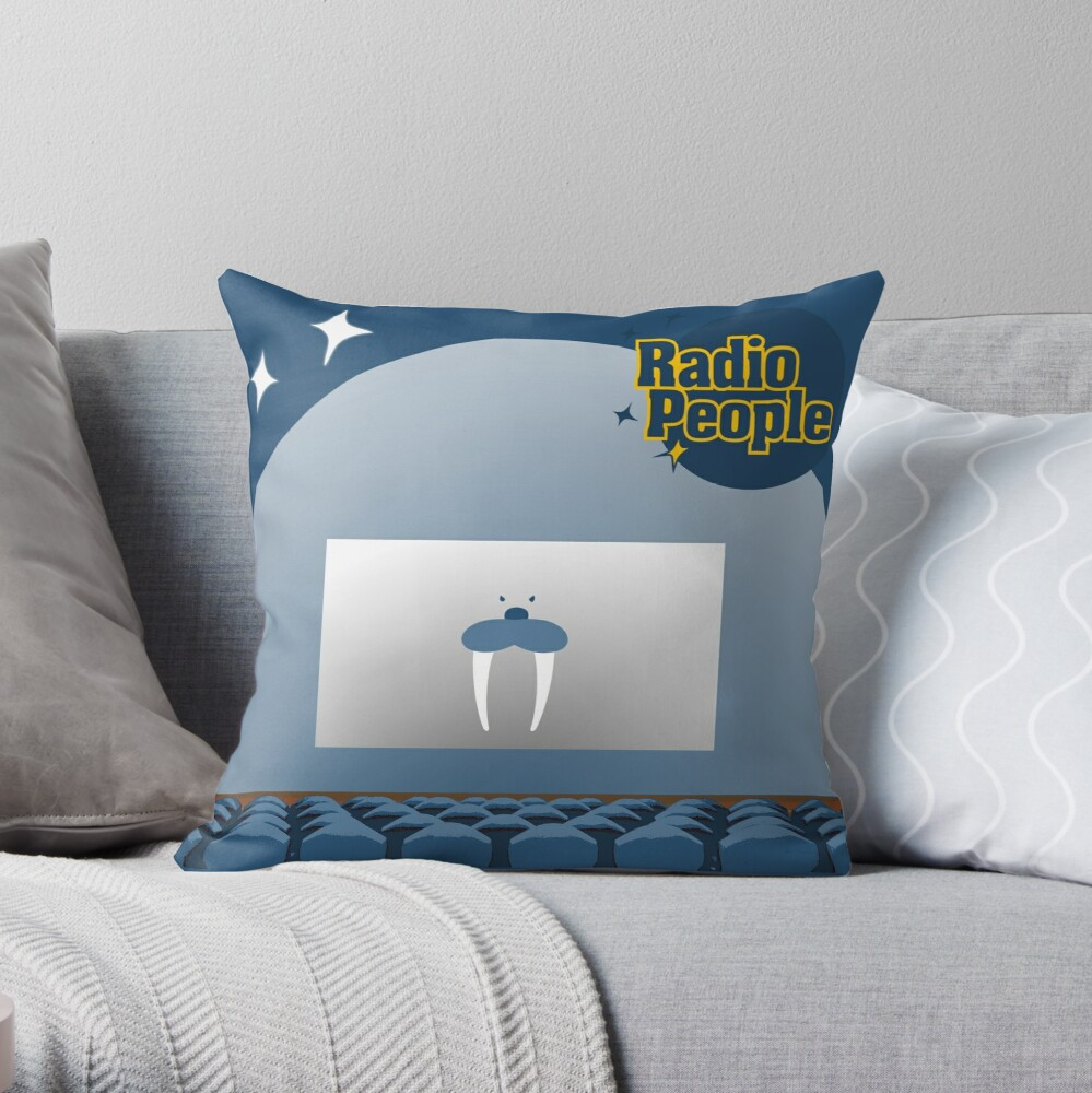 Red Rover Eve Throw Pillow