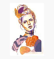 Tangerine Violet Photographic Print
