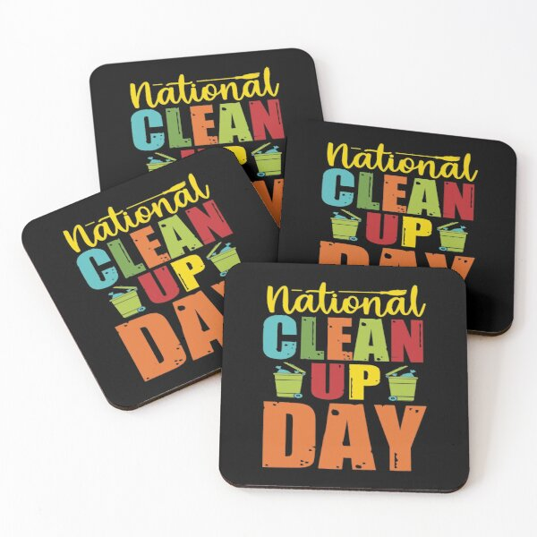 National Clean Day Coasters (Set of 4)