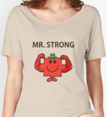 Mr Men Hit the Gym 'Mr Strong' Women's Relaxed Fit T-Shirt