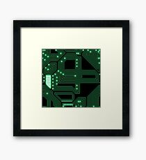 Electronic high tech  pattern Framed Print
