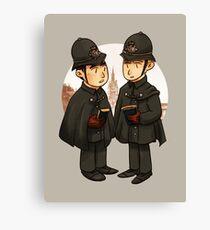 Victorian cops Canvas Print