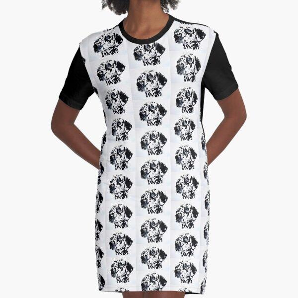 Dalmatian  Graphic T-Shirt Dress
