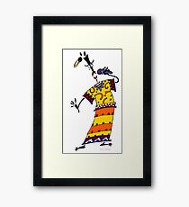 RAMAMABA - modern animation character !!! Framed Print