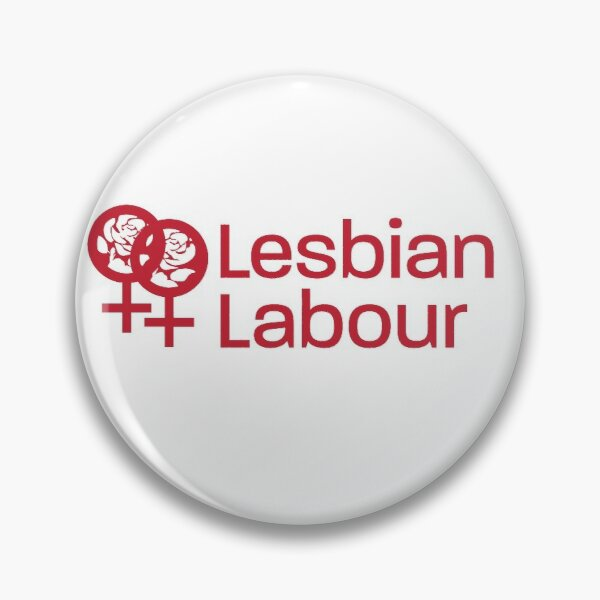 Lesbian Labour logo button Pin