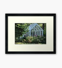 Garden greenhouse Framed Print