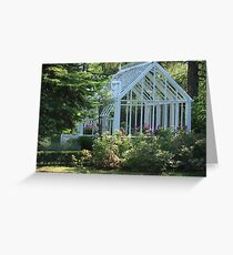 Garden greenhouse Greeting Card