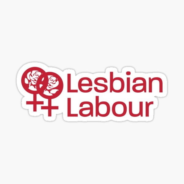 Lesbian Labour Merch stickers and magnets Sticker
