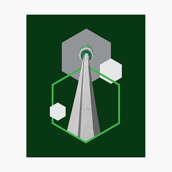 Tall Tower Green Hexagon - CN Canada Tower Photographic Print