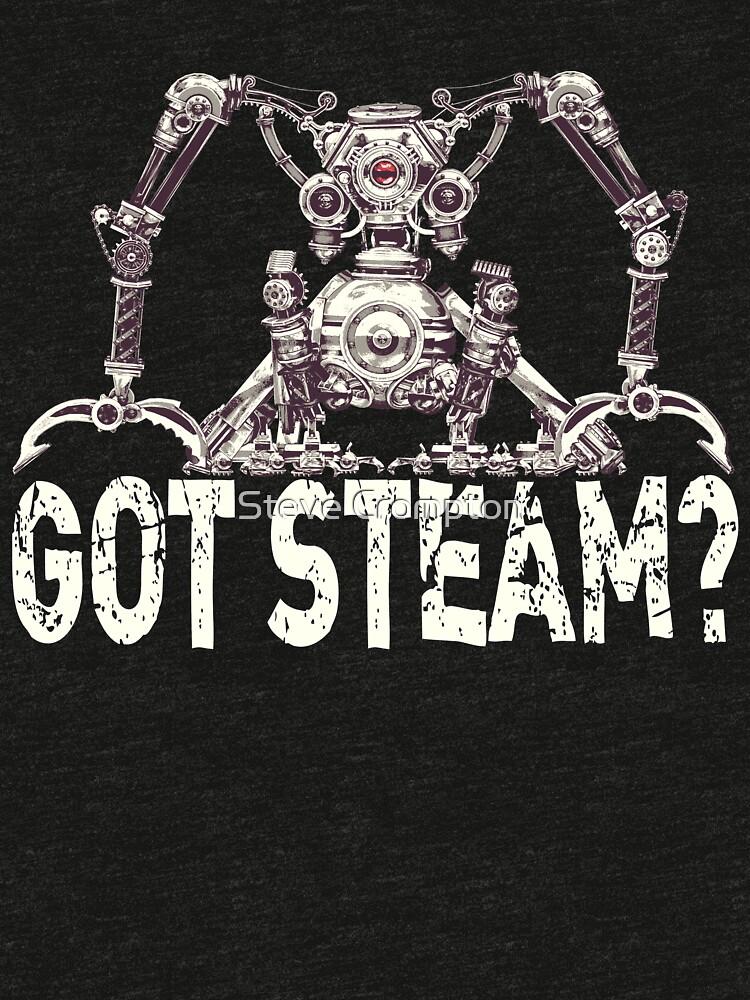 Steampunk / Cyberpunk Robot 'Got Steam?' Steampunk T-Shirts by SC001