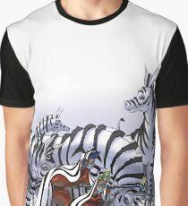 Snow Zebras Graphic T-Shirt