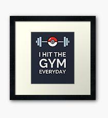 Pokemon Go - I Hit The Gym Everyday Framed Print