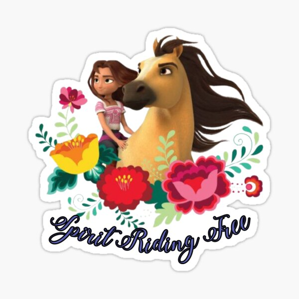 The spirit Riding Free Dreamworks Sticker