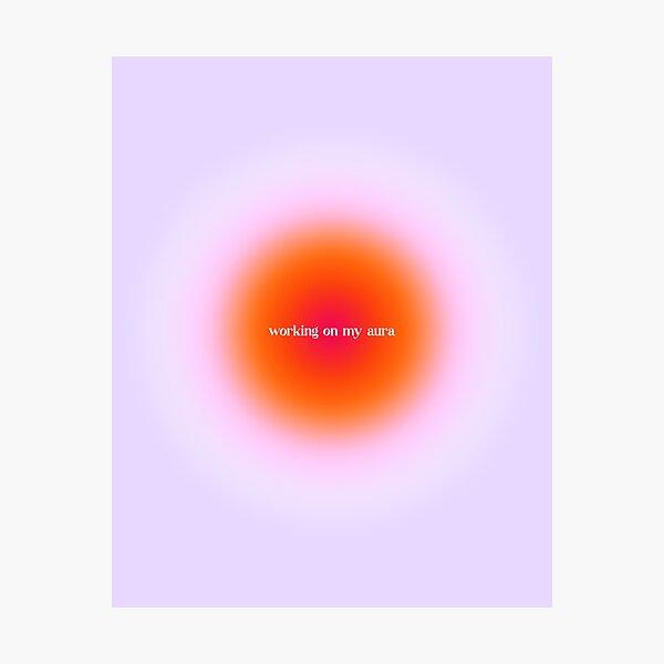 Working On My Aura Gradient, SZA Love Galore Photographic Print
