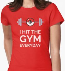 Pokemon Go - I Hit The Gym Everyday Womens Fitted T-Shirt