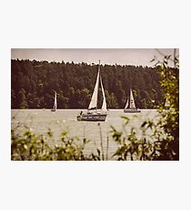 Sepia Sailing Photographic Print