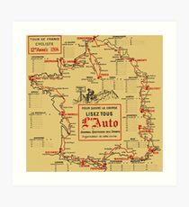 Tour De France 1914 Art Print