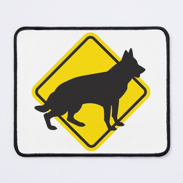 Yield to Dogs Mouse Pad