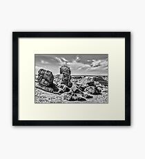 Big Rocks at Praia Malhada Jericoacoara Brazil Framed Print