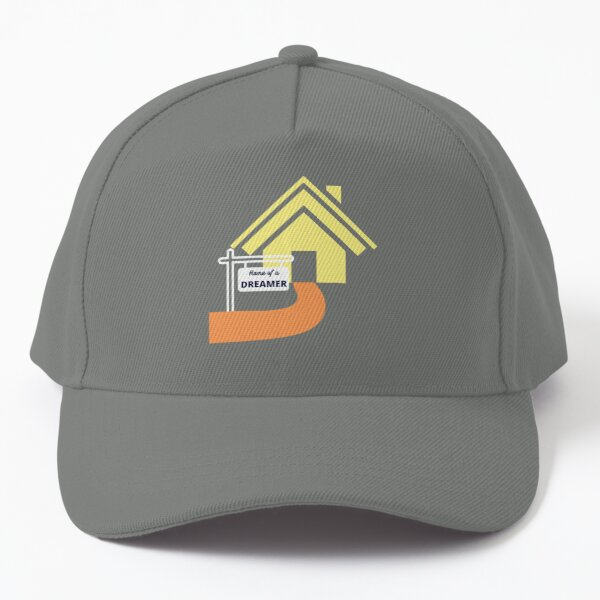 Home of a dreamer sign design with yellow house Baseball Cap