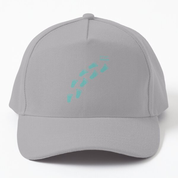 Footsteps - follow your dream - turquoise  Baseball Cap