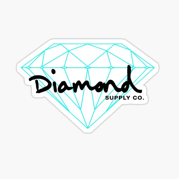 Diamond black Sticker