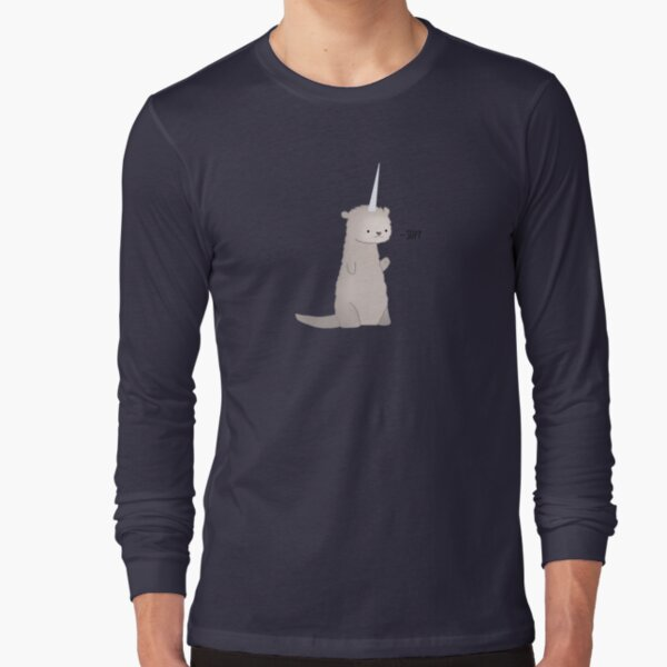 Always Be Yourself Unless Laser Shark All Over Mens Long Sleeve T Shirt