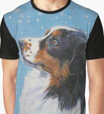 Australian Shepherd Fine Art Painting Graphic T-Shirt