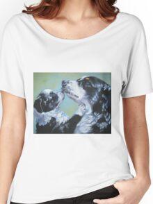 Australian Shepherd Fine Art Painting Women's Relaxed Fit T-Shirt